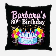 FANTASTIC 80TH Throw Pillow