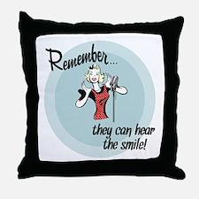 smile.png Throw Pillow