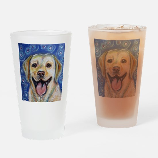 Funny Yellow lab Drinking Glass