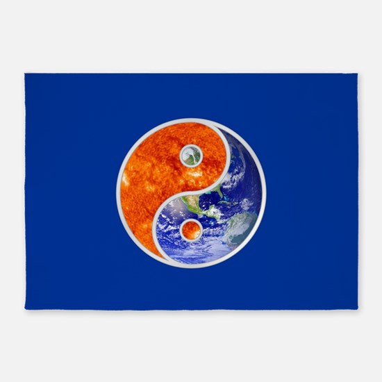YIN-YANG SUN EARTH 5'x7'Area Rug
