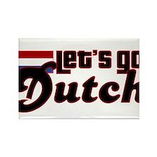 Let's Go Dutch Rectangle Magnet