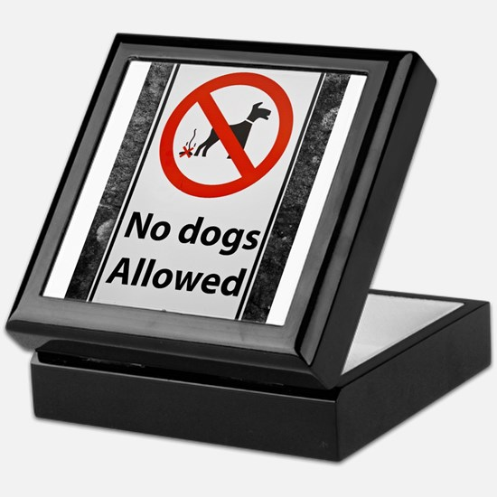 no-dogs-allowed-sign Keepsake Box