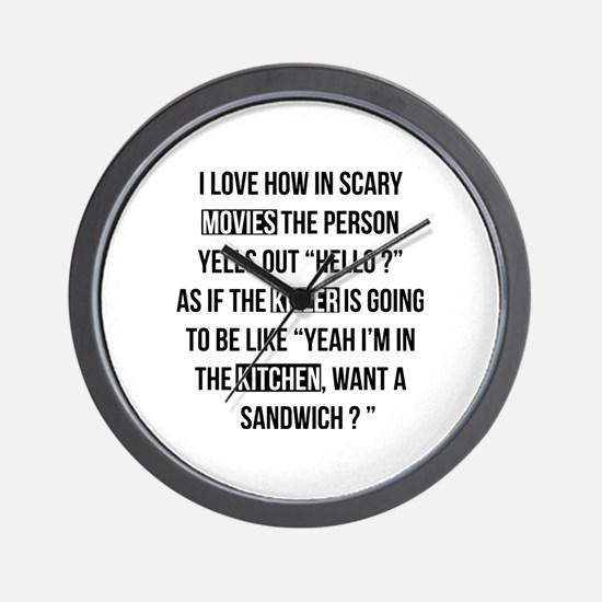 Movies Killer Kitchen Wall Clock