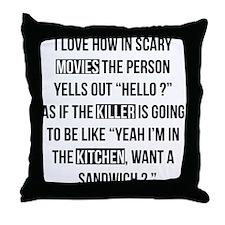 Movies Killer Kitchen Throw Pillow