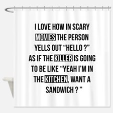 Movies Killer Kitchen Shower Curtain