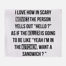 Movies Killer Kitchen Throw Blanket