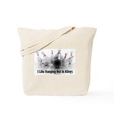 Funny Bowling ball Tote Bag