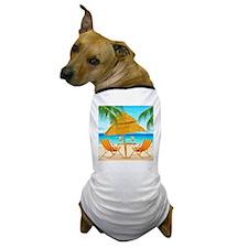 Beach Scene Dog T-Shirt