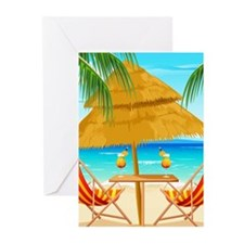 Beach Scene Greeting Cards