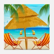 Beach Scene Tile Coaster