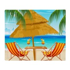 Beach Scene Throw Blanket