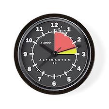 Altimaster Altimeter Timekeeper Black Wall Clock