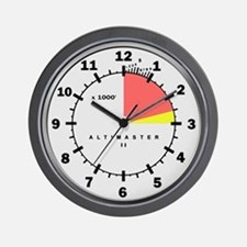 Altimaster Altimeter Timekeeper White Wall Clock