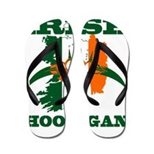 irish hooligan brass knuckles Flip Flops
