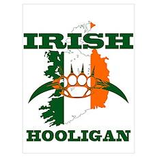 irish hooligan brass knuckles Poster