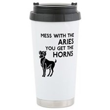 Aries Horns Travel Coffee Mug