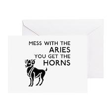 Aries Horns Greeting Card