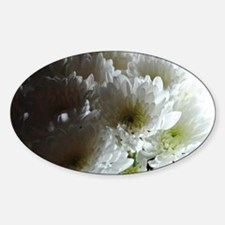 White Chrysanthemum Bouquet Decal