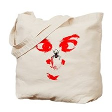 spider on face Tote Bag
