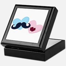 Male & Female Hearts Keepsake Box