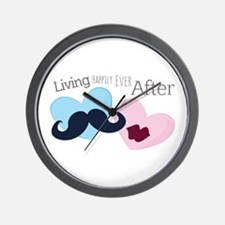 Living Happily Wall Clock