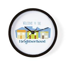 Neighborhood Welcome Wall Clock