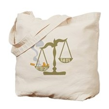 Justice Scales Ashtray Better Call Saul Tote Bag