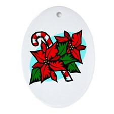 Candy and Flowers Oval Ornament