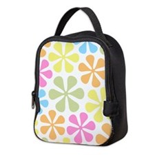 Abstract Flowers Col Mix Neoprene Lunch Bag
