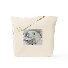 Bulldog at Cruft's Dog Show 1928 Tote Bag