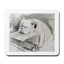 Bulldog at Cruft's Dog Show 1928 Mousepad