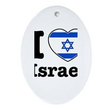 I love Israel Oval Ornament