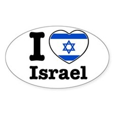 I love Israel Oval Decal
