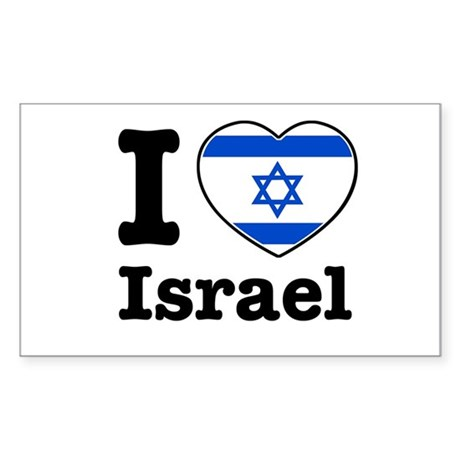 I love Israel Rectangle Sticker