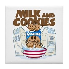 Milk_and_cookies.png Tile Coaster