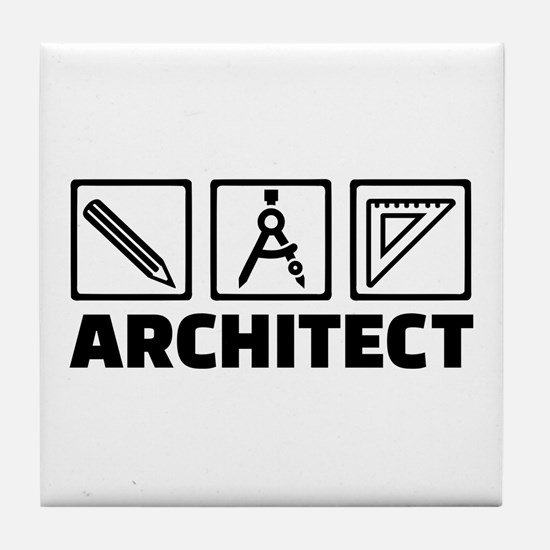 Architect tools compass Tile Coaster