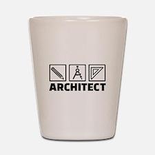 Architect tools compass Shot Glass