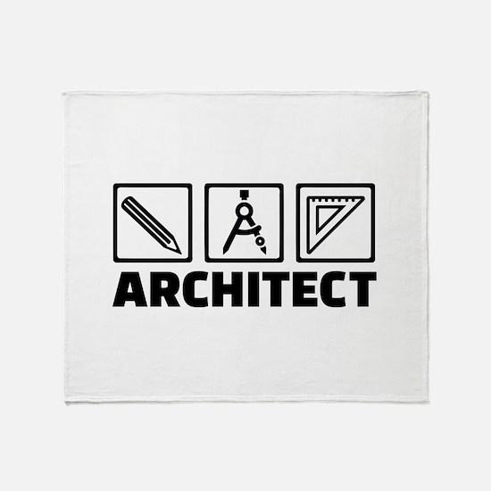 Architect tools compass Throw Blanket
