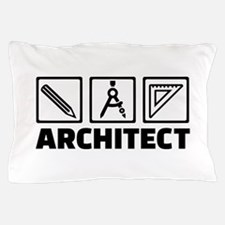 Architect tools compass Pillow Case