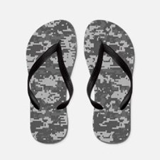 digital military camouflage Flip Flops