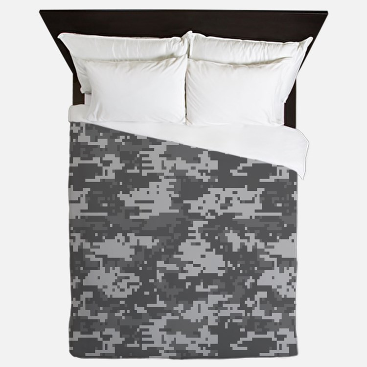 digital military camouflage Queen Duvet