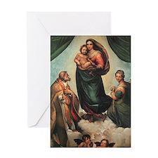 Sistine Madonna Greeting Card