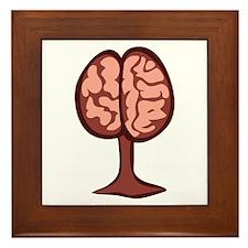 Brain On Stand Framed Tile