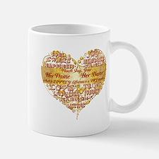 Custom Text Wedding Anniversary Mugs