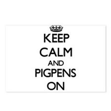 Keep Calm and Pigpens ON Postcards (Package of 8)