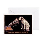 VINTAGE DOG ART: RCA DOG Greeting Card