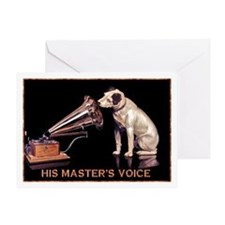 VINTAGE DOG ART: RCA DOG Greeting Card