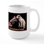 VINTAGE DOG ART: RCA DOG Large Mug