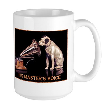 VINTAGE DOG ART: RCA DOG Large Mug