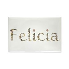 Felicia Seashells Rectangle Magnet